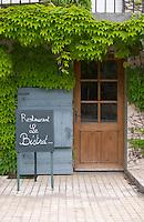 chalk board restaurant le bistrot crozes hermitage rhone france