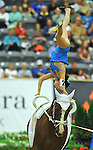 7 October 2010: Reka Gadolla (HUN) competes during Vaulting in the World Equestrian Games in Lexington, Kentucky