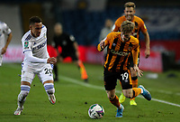 Hull City's Keane Lewis-Potter vies for possession with Leeds United's Rodrigo Moreno<br /> <br /> Photographer Alex Dodd/CameraSport<br /> <br /> Carabao Cup Second Round Northern Section - Leeds United v Hull City -  Wednesday 16th September 2020 - Elland Road - Leeds<br />  <br /> World Copyright © 2020 CameraSport. All rights reserved. 43 Linden Ave. Countesthorpe. Leicester. England. LE8 5PG - Tel: +44 (0) 116 277 4147 - admin@camerasport.com - www.camerasport.com