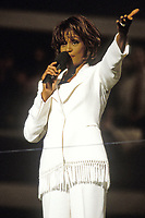 FLUSHING NY- AUGUST 27: Whitney Houston Performs at the Arthur Ashe Stadium Inauguration Ceremonies on August 27, 1997  in in Flushing Queens<br /> <br /> People:  Whitney Houston<br /> <br /> Transmission Ref:  MNC5<br /> <br /> Must call if interested<br /> Michael Storms<br /> Storms Media Group Inc.<br /> 305-632-3400 - Cell<br /> 305-513-5783 - Fax<br /> MikeStorm@aol.com