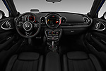 Stock photo of straight dashboard view of a 2018 Mini Clubman John Cooper Works 5 Door Wagon