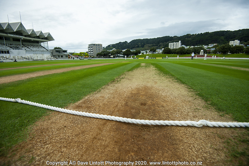 The outfield during day one of the Plunket Shield match between the Wellington Firebirds and Otago at Basin Reserve in Wellington, New Zealand on Thursday, 5 November 2020. Photo: Dave Lintott / lintottphoto.co.nz