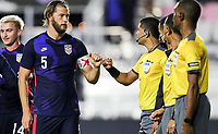 FORT LAUDERDALE, FL - DECEMBER 09: Walker Zimmerman #5 of the United States during a game between El Salvador and USMNT at Inter Miami CF Stadium on December 09, 2020 in Fort Lauderdale, Florida.