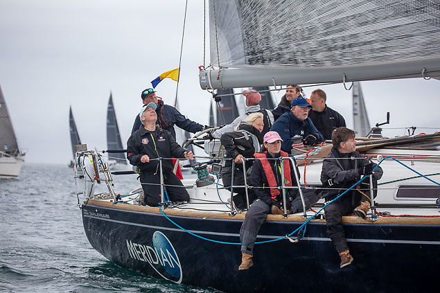 Meridian (Thomas Roche) is lying second in Kinsale Yacht Club's White Sails Series