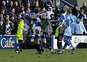 08/03/2008    Copyright Pic: James Stewart.File Name : sct_jspa07_qots_v_dundee.RYAN MCCANN IS CONGRATULATED AFTER HE SCORES THE SECOND FROM HIS OWN HALF.James Stewart Photo Agency 19 Carronlea Drive, Falkirk. FK2 8DN      Vat Reg No. 607 6932 25.Studio      : +44 (0)1324 611191 .Mobile      : +44 (0)7721 416997.E-mail  :  jim@jspa.co.uk.If you require further information then contact Jim Stewart on any of the numbers above........