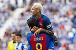 FC Barcelona's Neymar Santos Jr ansd Luis Suarez during the match of La Liga between Club Deportivo Leganes and Futbol Club Barcelona at Butarque Estadium in Leganes. September 17, 2016. (ALTERPHOTOS/Rodrigo Jimenez)