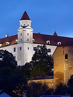 Burg Pressburg in Bratislava, Bratislavsky kraj, Slowakei, Europa<br /> Castle in Bratislava, Bratislavsky kraj, Slovakia, Europe