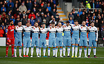 Rangers team during the minutes silence