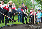 Ottawa ON - June 4 2014 - John Leslie plants a tree during the celebration of Excellence to commemorate 30 years of Ronald McDonald House Ottawa. (Photo: Matthew Murnaghan/Canadian Paralympic Committee)