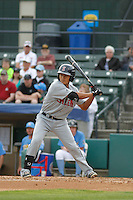 Salem Red Sox infielder Tzu-Wei Lin (17) at bat during a game against the Myrtle Beach Pelicans at Ticketreturn.com Field at Pelicans Ballpark on May 6, 2015 in Myrtle Beach, South Carolina.  Salem defeated Myrtle Beach  5-4. (Robert Gurganus/Four Seam Images)