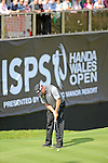 ISPS Handa Wales Open Golf final day at the Celtic Manor Resort in Newport, UK. : Lee Westwood of England finishes his round on the 18th green.