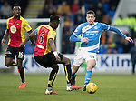 St Johnstone v Partick Thistle…11.02.17     Scottish Cup    McDiarmid Park<br />Joe Shaughnessy and Abdul Osman<br />Picture by Graeme Hart.<br />Copyright Perthshire Picture Agency<br />Tel: 01738 623350  Mobile: 07990 594431
