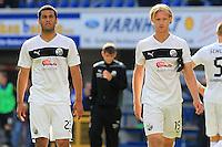 Football: Germany, 2. Bundesliga.Andrew Wooten (Sandhausen), Marco Pischorn (Sandhausen).?Ǭ© pixathlon