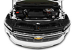 Car Stock 2021 Chevrolet Tahoe LT 5 Door SUV Engine  high angle detail view