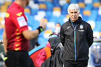 Gian Piero Gasperini coach of Atalanta BC looks on<br /> during the Serie A football match between SSC Napoli and Atalanta BC at stadio San Paolo in Napoli (Italy), October 17th, 2020. <br /> Photo Cesare Purini / Insidefoto