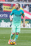 Andres Iniesta of Futbol Club Barcelona  during the match of Spanish La Liga between Atletico de Madrid and Futbol Club Barcelona at Vicente Calderon Stadium in Madrid, Spain. February 26, 2017. (ALTERPHOTOS)