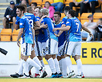 St Johnstone v Falkirk…24.07.18…  McDiarmid Park    Betfred Cup<br />Stefan Scougall celebrates his goal with his team mates<br />Picture by Graeme Hart. <br />Copyright Perthshire Picture Agency<br />Tel: 01738 623350  Mobile: 07990 594431