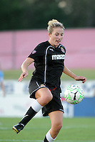 Becky Edwards (14) of the Western New York Flash. The Western New York Flash defeated Sky Blue FC 4-1 during a Women's Professional Soccer (WPS) match at Yurcak Field in Piscataway, NJ, on July 30, 2011.