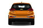 Straight rear view of 2019 Chevrolet Bolt-EV LT 5 Door Hatchback Rear View  stock images