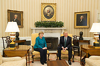 President Donald Trump meets with German Chancellor Angela Merkel, Friday, March 17, 2017, in the Oval Office of the White House in Washington, D.C. (Official White House Photo by Shealah Craighead)