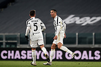 Cristiano Ronaldo of Juventus FC celebrates after scoring a goal of during the Serie A football match between Juventus FC and Cagliari Calcio at Allianz stadium in Torino (Italy), November21th, 2020. Photo Federico Tardito / Insidefoto