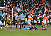 09/03/2019 Sky Bet League 1 Blackpool v Southend United<br /> <br /> Distraught Tyler Moore following his own goal,  Blackpool's added time equaliser