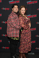 """NEW YORK CITY - OCTOBER 10: Harvey Guillén and Director Yana Gorskaya attends a 2021 New York Comic Con event for FX's """"What We Do In The Shadows"""" at the Javits Center on October 10, 2021 in New York City.  (Photo by Ben Hider/FX//PictureGroup)"""