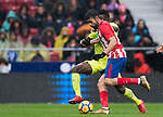 Diego Costa of Atletico de Madrid fights for the ball with Amath Ndiaye Diedhiou of Getafe CF during the La Liga 2017-18 match between Atletico de Madrid and Getafe CF at Wanda Metropolitano on January 06 2018 in Madrid, Spain. Photo by Diego Gonzalez / Power Sport Images
