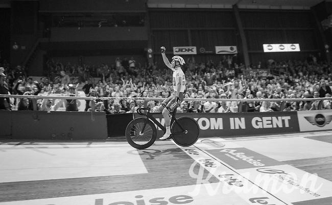 victory for Iljo Keisse (BEL/Etixx-QuickStep) <br /> <br /> 2016 Gent 6<br /> day 6