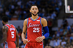Ben Simmons of 76ersin action during the NBA China Games 2018 match between Dallas Mavericks and Philadelphia 76ers at Universiade Center on October 08 2018 in Shenzhen, China. Photo by Marcio Rodrigo Machado / Power Sport Images