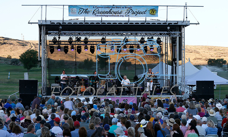 Pure Prairie League performs at the 11th annual Concert Under the Stars fundraiser for The Greenhouse Project, in Carson City, Nev., on Wednesday, July 10, 2019.<br />Photo by Cathleen Allison/Nevada Momentum