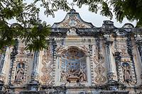 Antigua, Guatemala.  Facade of El Belen Church, 17th. Century.