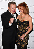 "Regis Philbin dies at 88 - 18 January 2011 - New York, NY - Regis Philbin and Joy Philbin.  Regis Philbin announced at the start of Tuesday morning ""Live With Regis and Kelly"" which he hosted for a quarter-century says that he is stepping down from the show around the end of the summer. Photo Credit: Paul Zimmerman/AdMedia<br /> 12 January 2010 - New York, NY - Regis Philbin and Joy Philbin.  National Board of Review of Motion Picture Awards Gala held at Cipriani 42nd Street. Photo Credit: Paul Zimmerman/AdMediaRegis Philbin dies at 88"