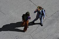 CoviTime.<br /> Roma al tempo del Coronavirus, scene di vita quotidiana in Piazza dei Sanniti.<br /> Rome at the time of the Coronavirus, images of daily life in Sanniti Square.