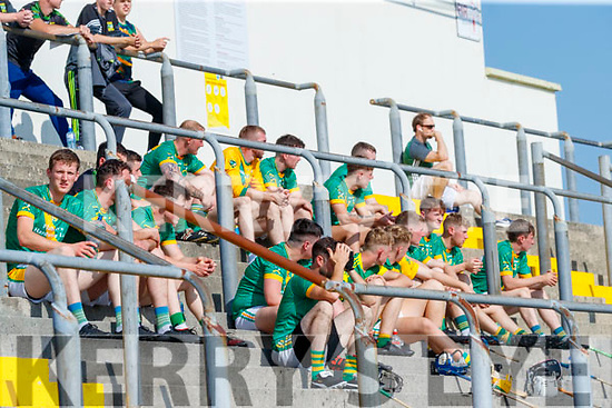 Kilmoyley subs during the Kerry County Senior Hurling Championship Final match between Kilmoyley and Causeway at Austin Stack Park in Tralee