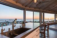 Skylark Residence with Ocean View, San Diego. Remodel completed in 2013. Redistributed layout of main spaces. Jen Landau Prior, Designer.