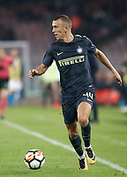 Calcio, Serie A: Napoli, stadio San Paolo, 21 ottobre 2017.<br /> Inter's Ivan Perisic in action during the Italian Serie A football match between Napoli and Inter at Napoli's San Paolo stadium, October 21, 2017.<br /> UPDATE IMAGES PRESS/Isabella Bonotto
