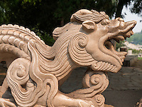 Steindrachen im Longtan Park in Peking, China, Asien<br /> Stone dragon, Longtan -Park, Beijing, China, Asia