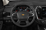 Car pictures of steering wheel view of a 2020 Chevrolet traverse 3LT 5 Door SUV