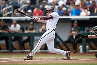 Mississippi State Bulldogs shortstop Jordan Westburg (11) swings the bat during Game 8 of the NCAA College World Series against the Auburn Tigers on June 16, 2019 at TD Ameritrade Park in Omaha, Nebraska. Mississippi State defeated Auburn 5-4 6-3. (Andrew Woolley/Four Seam Images)