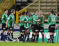 Cercle Brugge - KV Kortrijk..vreugde na de 1-0..foto VDB / BART VANDENBROUCKE