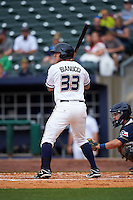 NW Arkansas Naturals outfielder Mike Bianucci (33) at bat during a game against the San Antonio Missions on May 31, 2015 at Arvest Ballpark in Springdale, Arkansas.  NW Arkansas defeated San Antonio 3-1.  (Mike Janes/Four Seam Images)