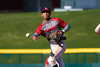 Steven Ondina (3) of International Baseball Academy HS in Gurabo, Puerto Rico during the Baseball Factory All-America Pre-Season Tournament, powered by Under Armour, on January 13, 2018 at Sloan Park Complex in Mesa, Arizona.  (Freek Bouw/Four Seam Images)