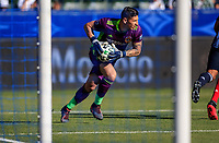 CARSON, CA - FEBRUARY 15: David Bingham #1 GK of the Los Angeles Galaxy moves with the ball during a game between Toronto FC and Los Angeles Galaxy at Dignity Health Sports Park on February 15, 2020 in Carson, California.