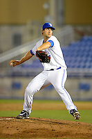 Dunedin Blue Jays pitcher Blake McFarland #14 during a game against the Clearwater Threshers at Florida Auto Exchange Stadium on April 4, 2013 in Dunedin, Florida.  Dunedin defeated Clearwater 4-2.  (Mike Janes/Four Seam Images)