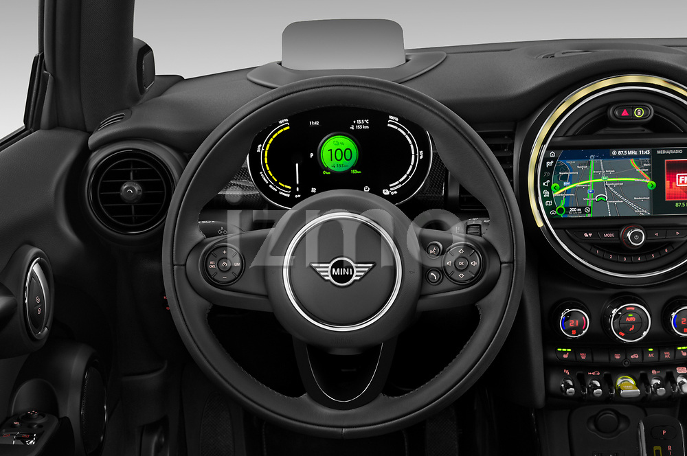 Car pictures of steering wheel view of a 2020 MINI MINI-Electric Cooper-SE-L 2 Door Hatchback Steering Wheel