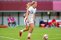 TOKYO, JAPAN - JULY 21: Lindsey Horan #9 of the United States on the ball during a game between Sweden and USWNT at Tokyo Stadium on July 21, 2021 in Tokyo, Japan.