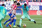 Rafinha Alcantara of Futbol Club Barcelona in action  during the match of Spanish La Liga between Atletico de Madrid and Futbol Club Barcelona at Vicente Calderon Stadium in Madrid, Spain. February 26, 2017. (ALTERPHOTOS)