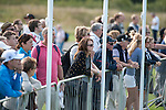Newport - South Wales - UK - 31st August 2013 :  Golf fans during the third round of the ISPS Handa Wales Open on the Twenty Ten course at The Celtic Manor Resort in Newport, South Wales.