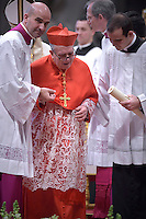 Cardinal Luigi De Magistris .Pope Francis,during a consistory for the creation of new Cardinals at St. Peter's Basilica in Vatican.February 14, 2015